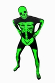 Kostuem MORPHSUIT - LEUCHT SKELETT - GANZK�RPERANZUG - GLOW IN THE DARK